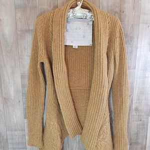 Anthropologie Open Wool Blend Cardigan Sz XS